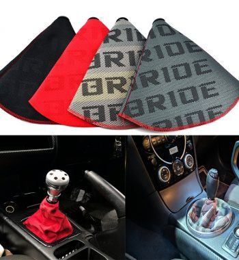 Universal Leather Short Shifter AT MT Shift Knob Shifter Gear Knob Boot Cover,For Ford Galaxy Mondeo 3 4 S max C max,For Honda